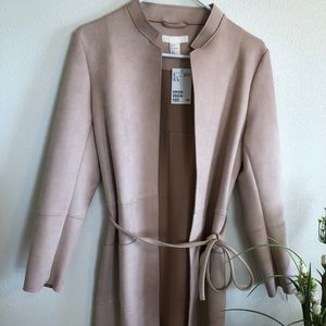 Suede long jacket
